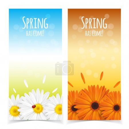 Illustration for Bright spring banners design. Vector resizable illustration - Royalty Free Image