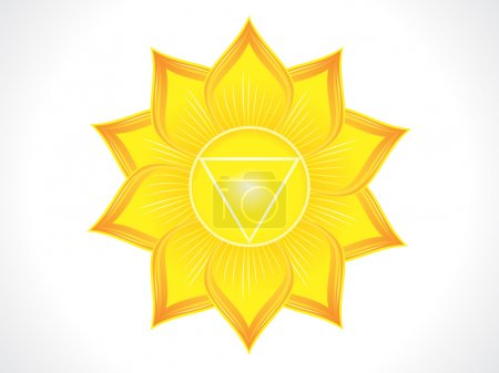 Illustration for Detailed solar plexus chakra vector illustration - Royalty Free Image