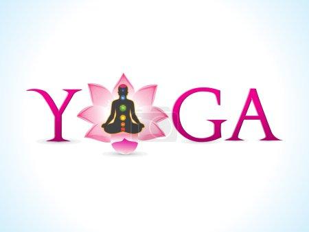Abstract yoga text