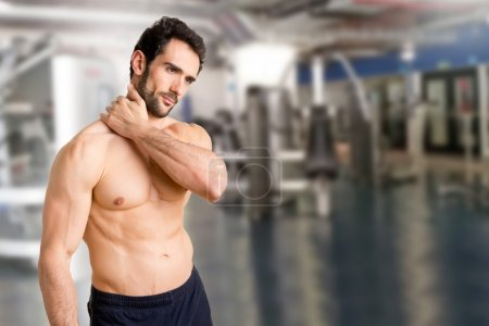Athlete Suffering Fom Neck Pain
