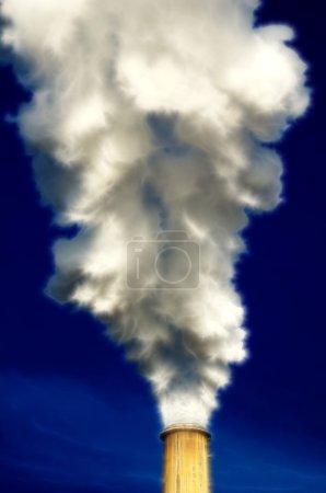 chimney and smoke view