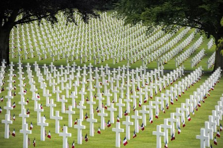 memorial day at American cemetery