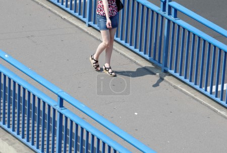 Walker on the bridge