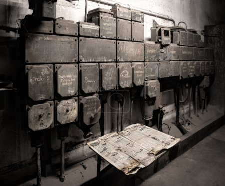 Photo for Old industrial circuit breakers - Royalty Free Image