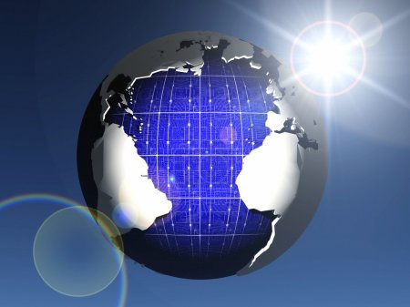 The solar cell earth