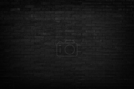 Photo for Black brick wall for background - Royalty Free Image