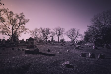 Old cemetery - vintage look