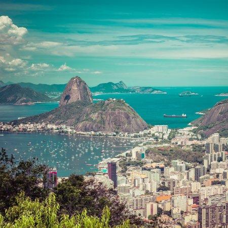 Skyline view of Rio de Janeiro, Brazil