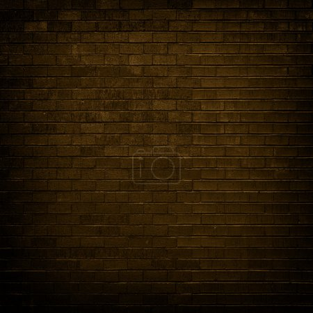 Photo for Brown brick wall with dim light for background - Royalty Free Image