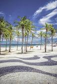 Copacabana Beach with palms