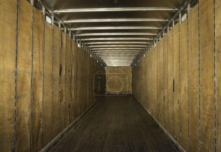 Empty truck trailer