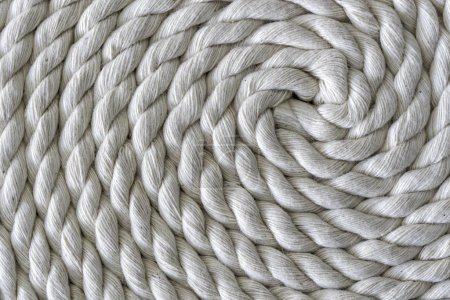 Roll of rough rope