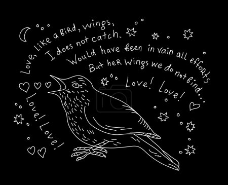 Nightingale sings aria of Carmen