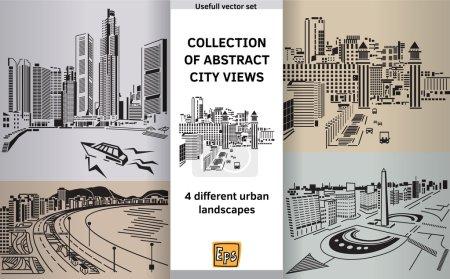 Photo pour Entouré de panoramas abstraits sur la ville. Illustration vectorielle couleur - image libre de droit