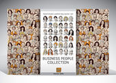 Business people faces collection