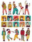 people figures and characters icons