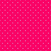 Tile vector pattern with small white polka dots on pink background