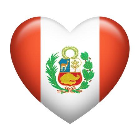 Peru Insignia Heart Shape