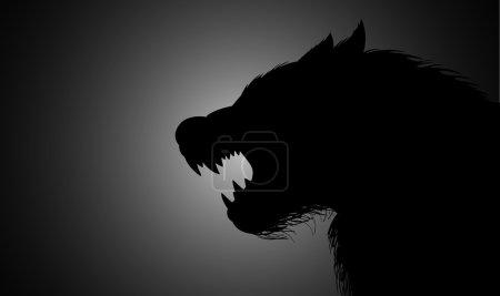 A werewolf lurking in the dark...