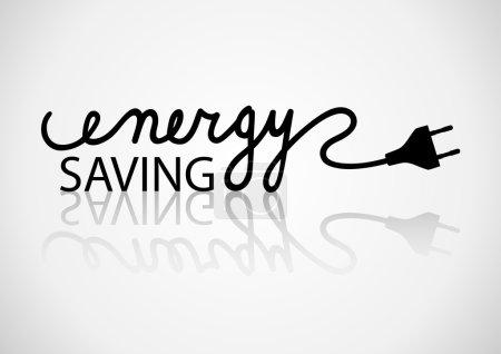 Illustration pour Typographie des économies d'énergie - image libre de droit