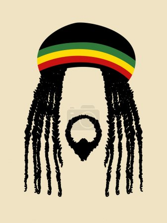 Rastafarian In Simple Graphic