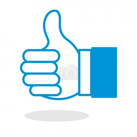 Illustration for Icon of thumbs up or like hand gesture for website or mobile application - Royalty Free Image
