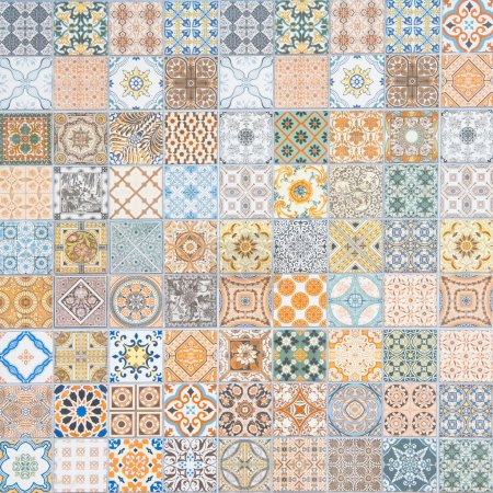 Photo for Ceramic tiles patterns in the room - Royalty Free Image
