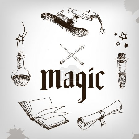 set of magic elements