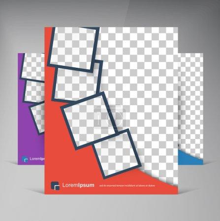 Illustration for Vector brochure flyer design layout squares. vector eps10. - Royalty Free Image