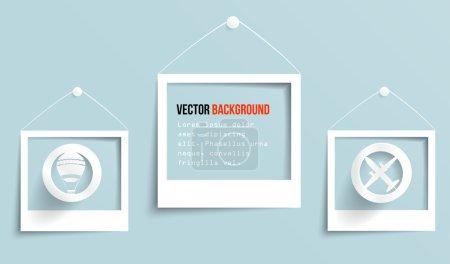 Illustration pour Bannière vectorielle de cadre photo. Illustration vectorielle . - image libre de droit