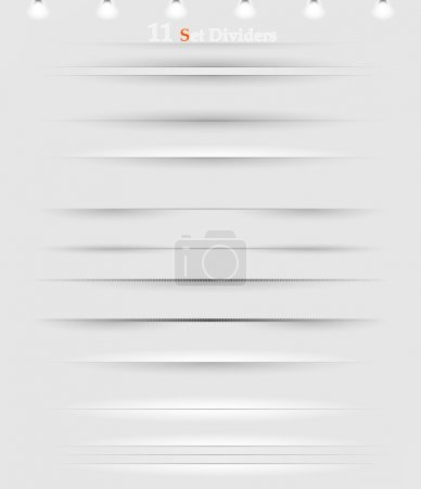 Illustration for Vector horizontal dividers set black - Royalty Free Image