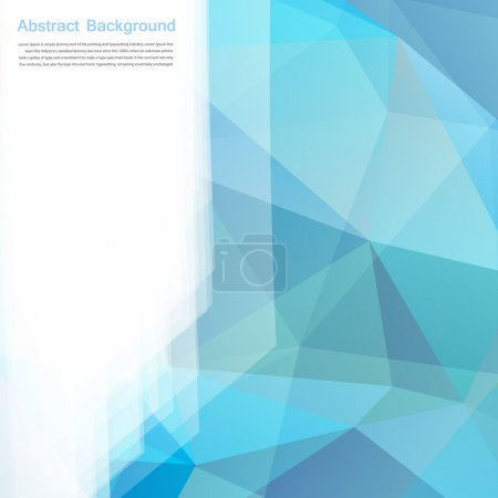 Illustration for Vector abstract background. Polygon blue and card geometric - Royalty Free Image