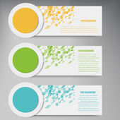 Vector abstract circles template banner.  design