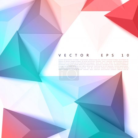 Photo for Vector background abstract polygon triangle. polygonal design geometrical - Royalty Free Image