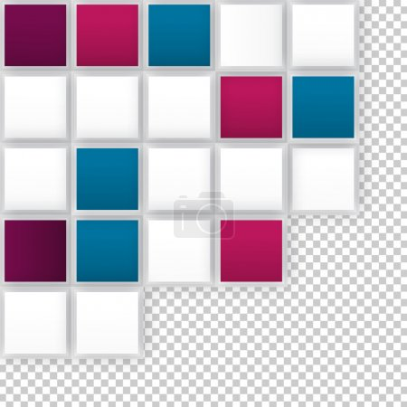 Illustration for Vector Abstract geometric shape from gray cubes. Color squares - Royalty Free Image