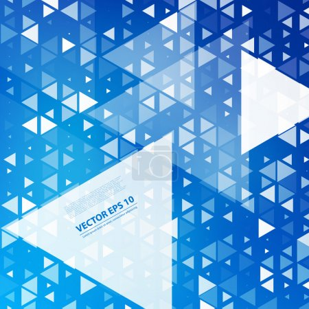 Illustration for Vector Abstract geometric shape from gray triangles - Royalty Free Image