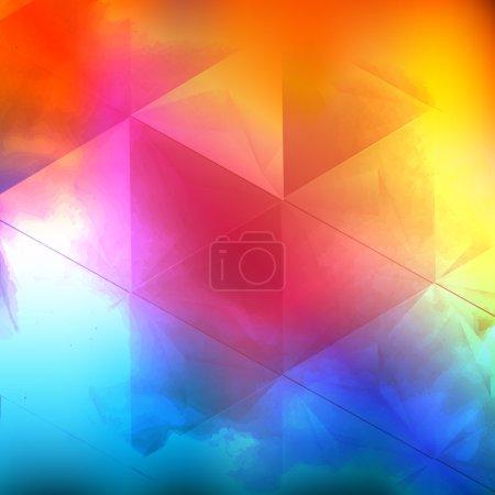 Illustration pour Nuage d'aquarelle vectoriel. Il y a une place vide pour votre texte - image libre de droit