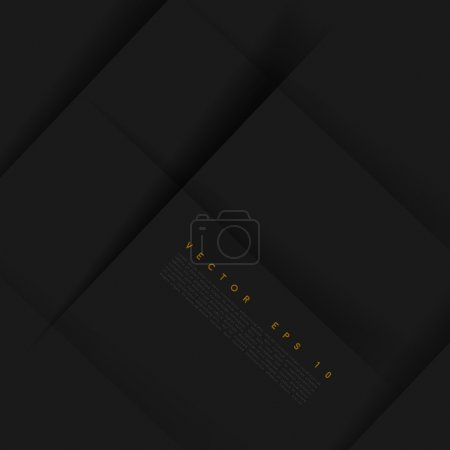 Illustration for Vector black background abstract lines. design geometrical - Royalty Free Image