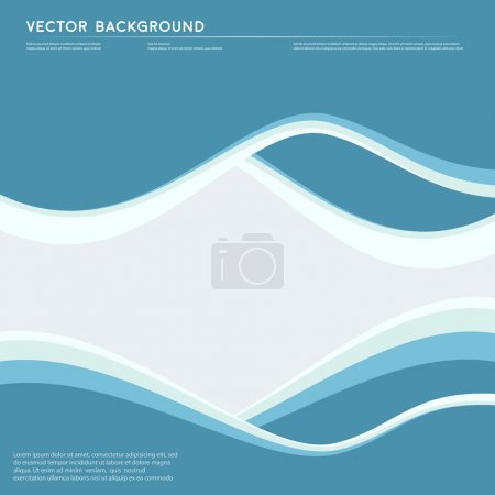 Illustration for Vector Abstract blue background. Wavy illustration. Design and waves - Royalty Free Image