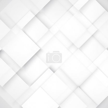 Illustration for Vector Abstract geometric shape from gray cubes. white squares - Royalty Free Image