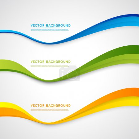 Illustration for Vector abstract background design wavy.  Brochure design templates collection and waving - Royalty Free Image