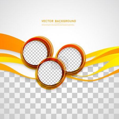 Illustration for Vector abstract background design wavy.  Brochure design templates collection and circles - Royalty Free Image