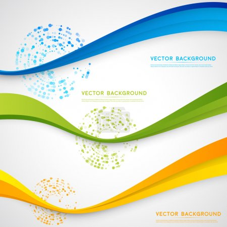 Vector abstract background design wavy.  Brochure design templates collection and waving