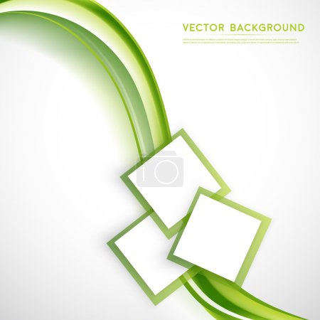 Illustration for Vector abstract background design wavy.  Brochure design templates collection and squares - Royalty Free Image