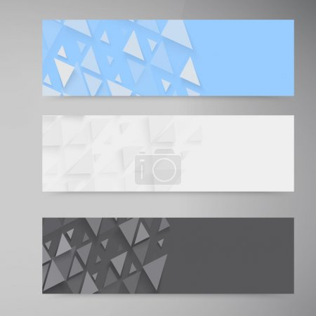 Illustration for Vector banners and triangles. Color header set - Royalty Free Image