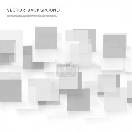 Illustration for Vector background abstract squares. design and geometrical - Royalty Free Image