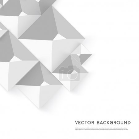 Photo for Vector Abstract geometric shape from gray cubes. White pyramides - Royalty Free Image