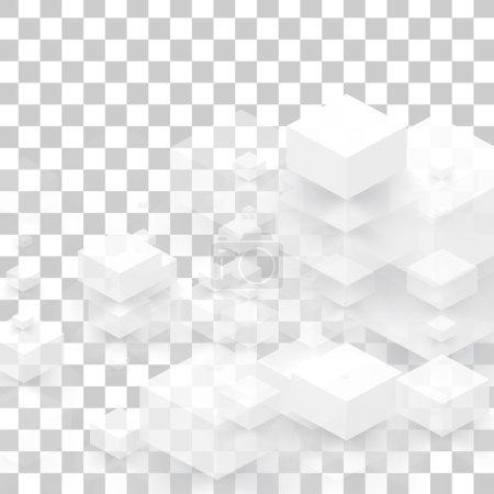 Illustration pour Fond vectoriel carrés abstraits. design et géométrique - image libre de droit