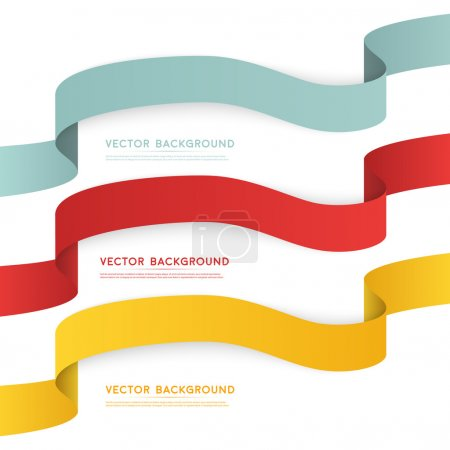 Set of color ribbons isolated on white