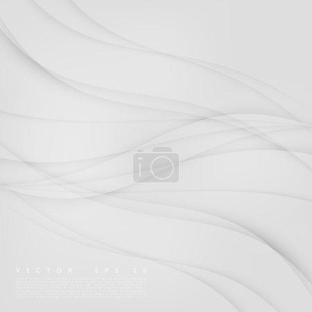Illustration pour Ondes vectorielles abstraites de conception de fond. Collection de modèles de conception de brochure - image libre de droit